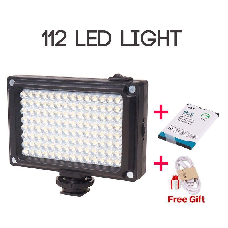 Ulanzi New 112 LED <font><b>Dimmable</b></font> Video Light Lamp Rechargable Panal Light +BP-4L Battery for DSLR Camera Videolight Wedding Recording