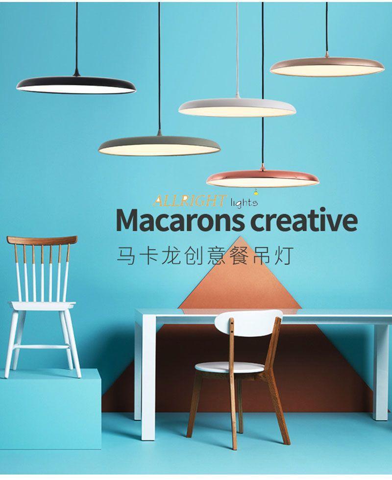 Moderne LED metall einzigen chanderlier schwarz/weiß/chanpagne farbe DIA45CM weiß/warme weiße farbe für esszimmer kaffee shop