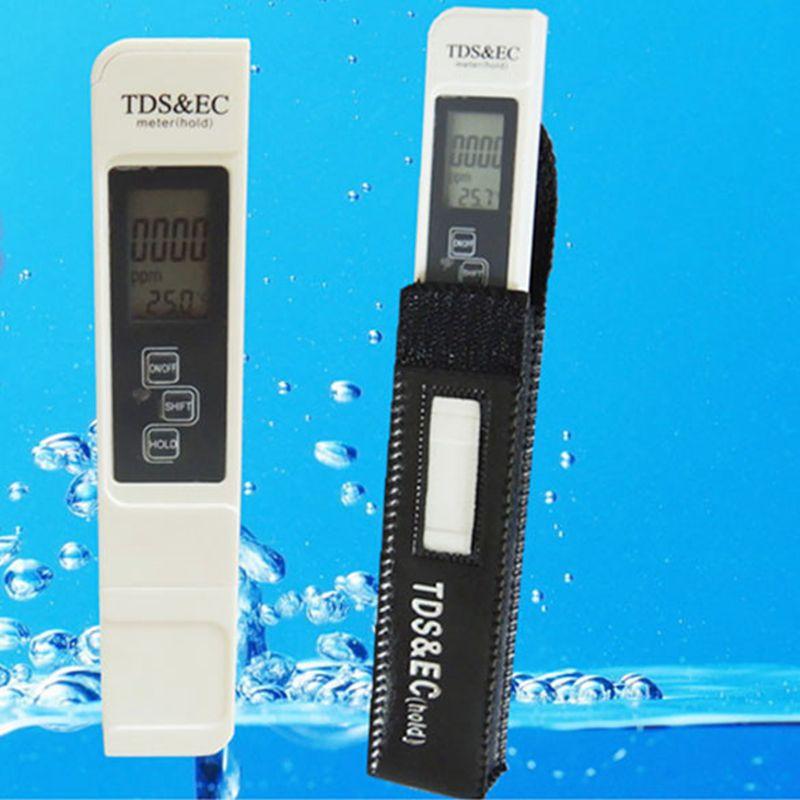 3In1 fonction numérique TDS EC mètre LCD TDS & EC testeur de température 0-5000ppm 9990us/cm TDS conductivité eau liquide outils de qualité