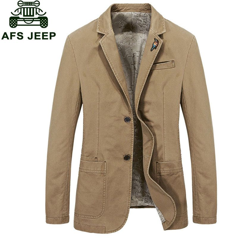 2017 New Arrival Brand Clothing Men Jacket M~4XL Overcoat Slim Fit Casual Blazer Jacket Coats CLOTHES Long Sleeve Plus Size