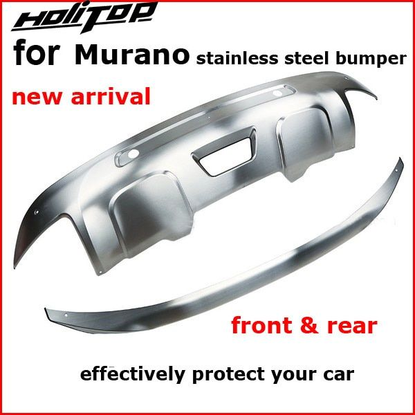 304 stainless steel skid plate bumper protector bull bar for Nissan Murano 2015 2016 2017 2018, 2pcs/set, quality supplier