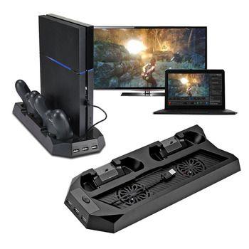 Für PS4 Kühler Mutilfunction Lüfter Kühler Vertikale Ständer für PS4 PlayStation 4 Konsole Kühler Mit Ladestation