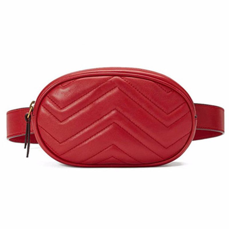 Waist Bag Women Waist fanny Packs belt bag luxury brand leather chest <font><b>handbag</b></font> red black color 2018 new fashion hight quality