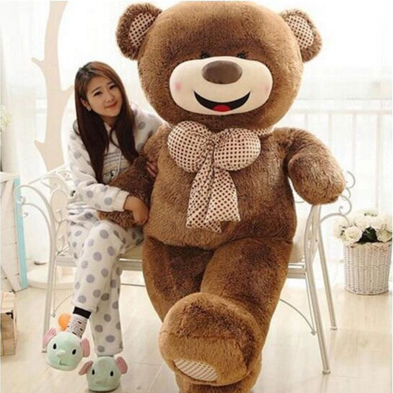 Oversize 180cm Huge Happy Teddy Bear Pillow Stuffed Giant Teddy Bear Plush Toy Gift Plush Ted Man's Movie For Girlfriend Gift