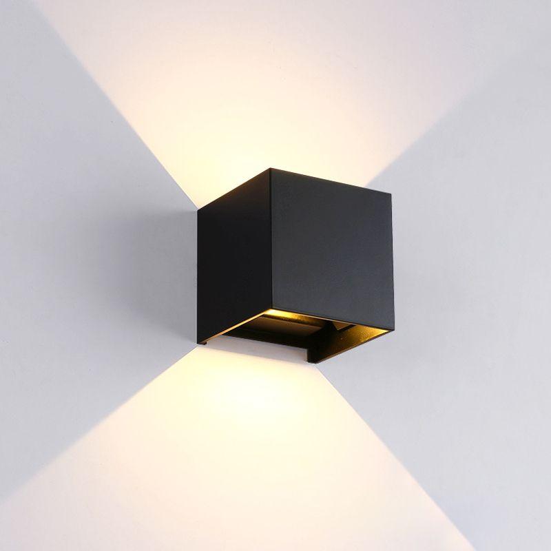 La lampe de mur LED réglable 6 W IP65 imperméabilisent la lumière de mur en aluminium d'intérieur et extérieure montée par Surface de lumière de porche de jardin de cube LED