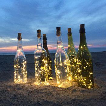 2 m LED Guirlande Fil De Cuivre Corker Cordes Guirlande lumineuse pour le Verre Artisanat Bouteille Nouvel An/Noël/Valentines décoration de mariage
