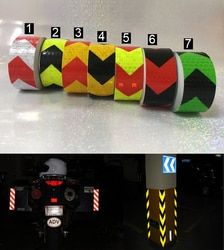 25mm x 5m Safety Mark Reflective tape stickers car-styling Self Adhesive Warning Tape Automobiles Motorcycle Reflective Film