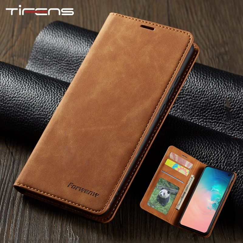 Leather Flip Case For Samsung Galaxy S9 S8 S10 J4 J6 Plus A40 A50 A60 A70 A30 A20 A80 A90 Note9 A7 A8 2018 Magnetic Wallet Cover