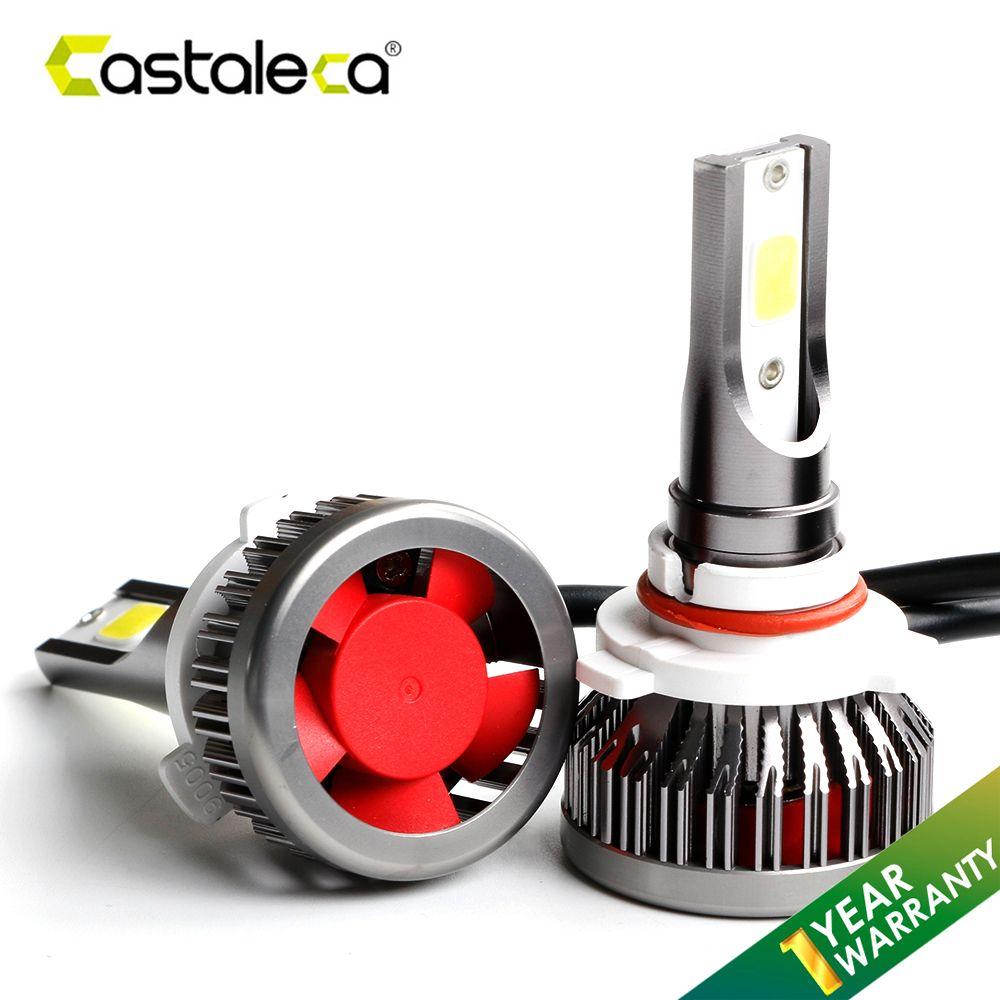 Castaleca Car Headlight H4 H7 H11 H1 H3 9005 9006 9007 LED Headlamp h4 h7 led Canbus Bulb Auto Fog Light 72W 8000LM DC12v 24v