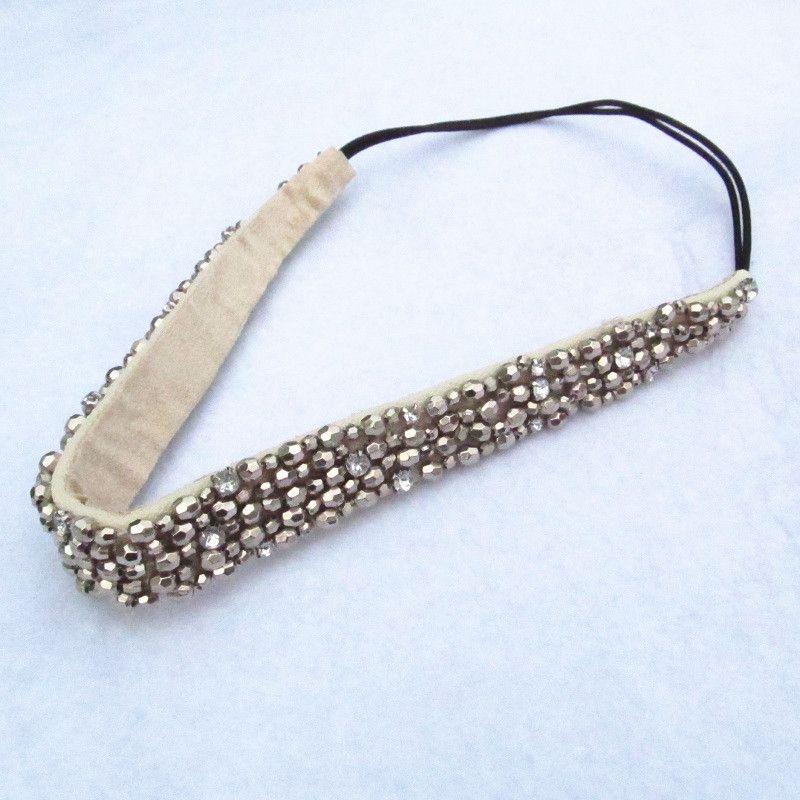 2018 nouvelle main de mode En Gros cubique perles et pierres précieuses bandeaux élastique bandeau cheveux de hairband de partie accessoires