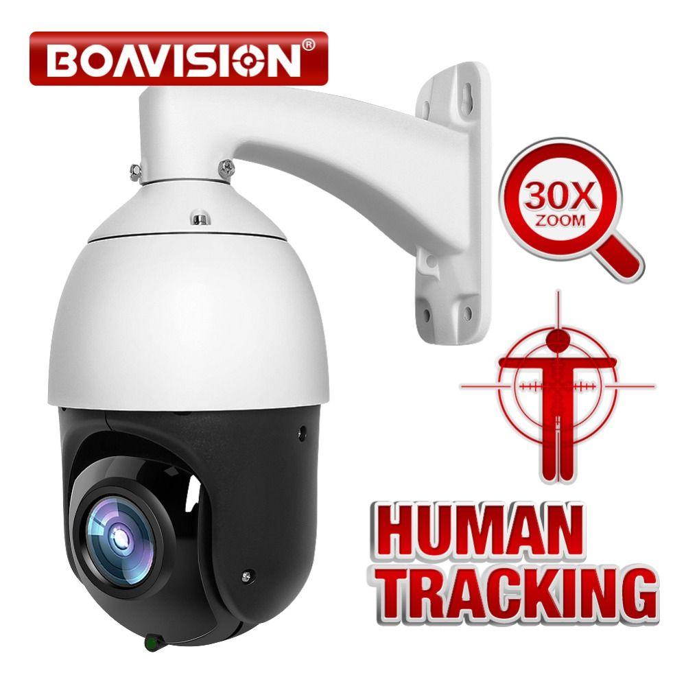 AI Auto Tracking PTZ IP Kamera POE 30X Zoom 1080P H.265 AI Menschlichen Körper Gesicht Zoomen Programmierung Presets Patrouillieren outdoor IR 80M