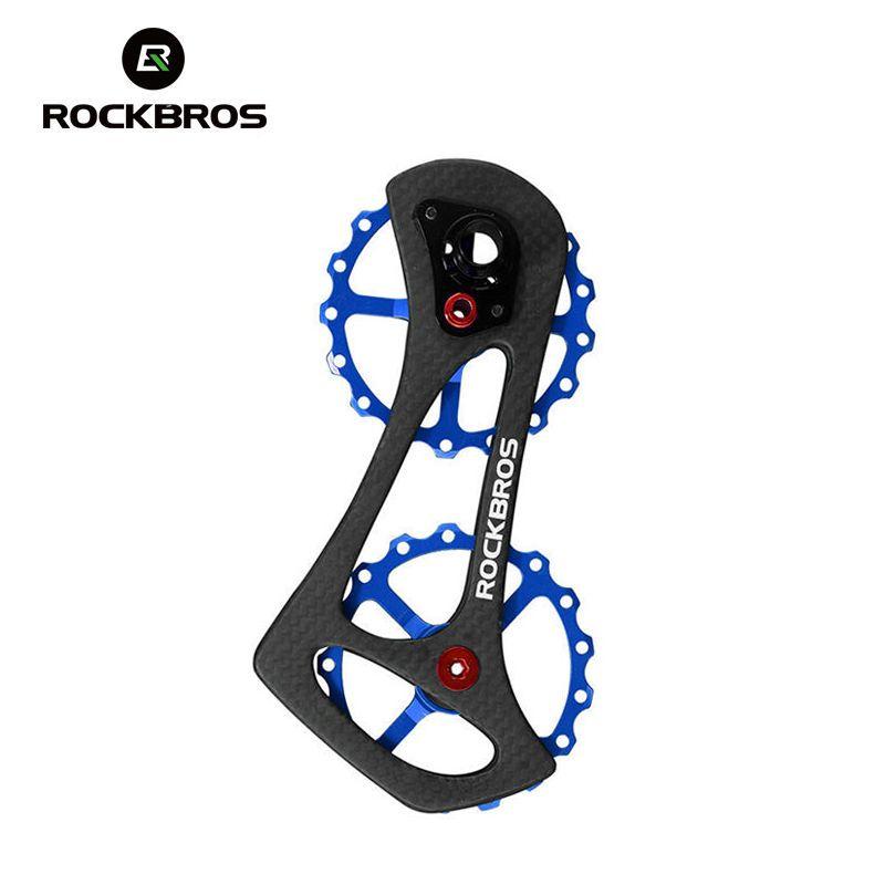 ROCKBROS Carbon Faser Fahrrad Schaltwerk Scheiben Rad 17 t Fahrrad Jockey Rad Für Shimano 6800 6870 9000 9070 Fahrrad teile