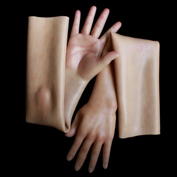 silicone female glove realistic with skin texture G-3TD CD DRAG QUEEN CROSSDRESS