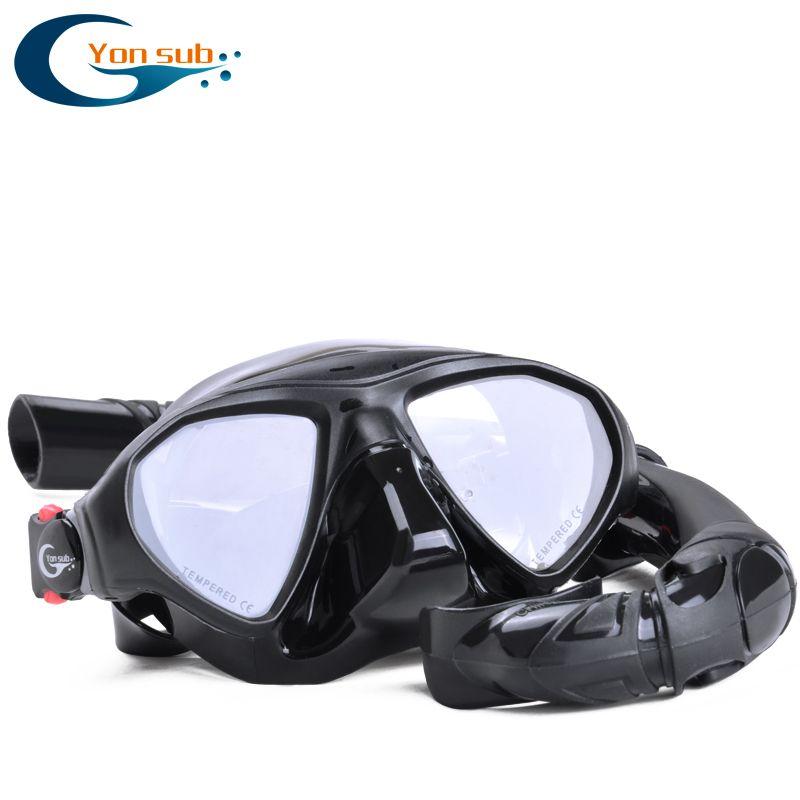 Professionelle Scube Unterwasser Jagd Speerfischen Tauchen Maske Niedrigen Volumen Silikon Gehärtetem Glas Schnorcheln Tauchen Maske Set