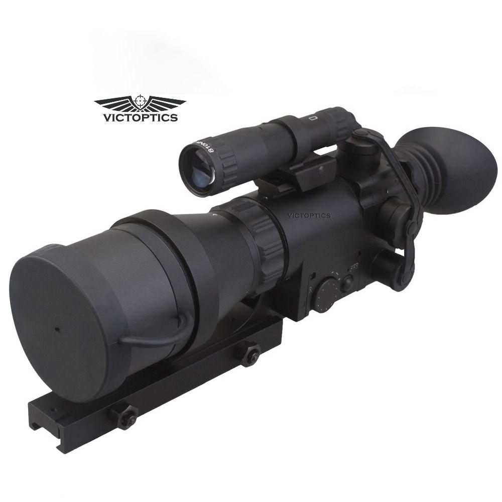 VictOptics 4x60 Jagd NightVison Zielfernrohr IR für Nacht Schießen Mit 9 Ebenen beleuchtung