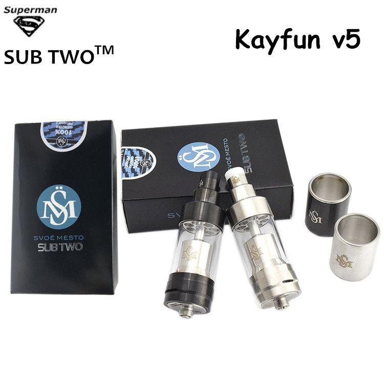 Hot selling RDA Kayfun v5 atomizer airflow control rebuildable Dripper big vapor tank 316 stainless steel E cigarette vaporizer