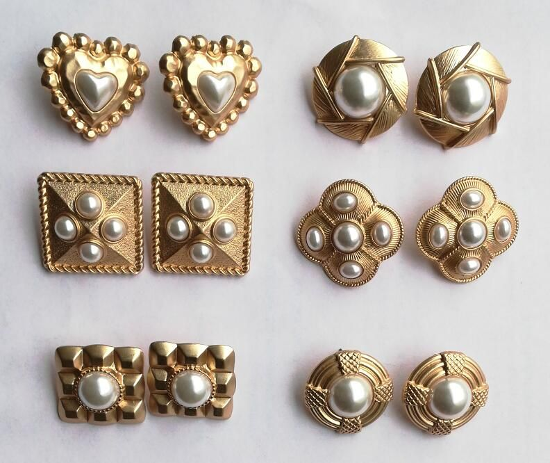 Timeless Wonder stunning retro geo faux pearl stud statement Earrings Party Gown top Brincos runway rare unique glam ins 4593
