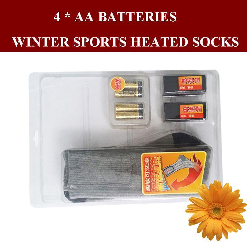 1 Paire Livraison Gratuite 1.5 V AA Batterie Chauffage Hommes Thermique chaussettes Lavable Femmes Hiver Coton Électrique Chauffée Chaussettes EUR Taille 38-44