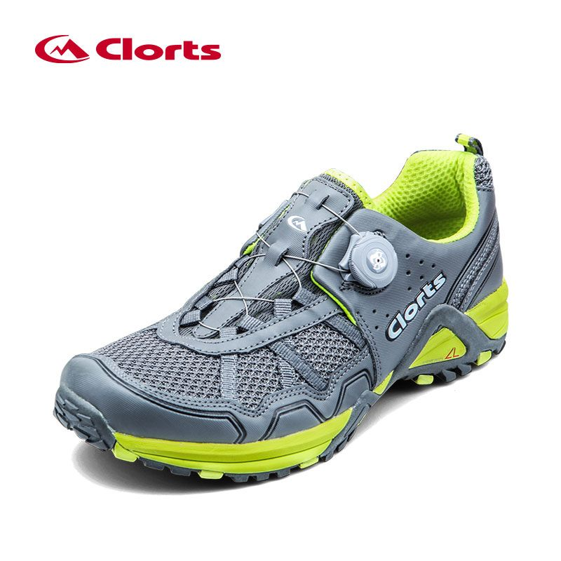 2018 Clorts Men Trail Running Shoes BOA Fast Lacing Breathable Light Weight Sport Shoe Mesh Upper For Men Free Shipping 3F013B/D