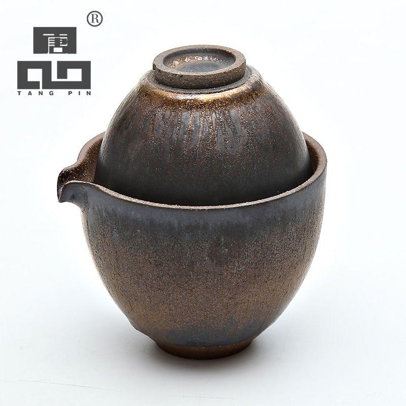 TANGPIN kaffee tee sets japanischen teekanne keramik gaiwan teetasse porzellan tragbare reise tee-set chinesische kung fu tee-set