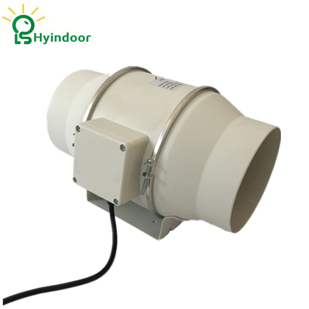 Hydroponic Grow Room 6 Inches 230V Mixed Flow Inline Ventilation Duct Fan Blower