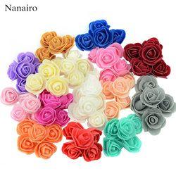 100 unids/lote mini espuma Rosa cabeza de la flor Rosa artificial flores decoración del hogar de la boda de DIY artículos para fiestas