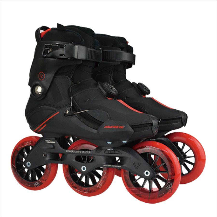 Japy Skate POWERSLIDE V Trinity Inline Skates 3*110mm Professionelle Virus Straße Freizeit Skates Roller Kostenloser Skating Patines