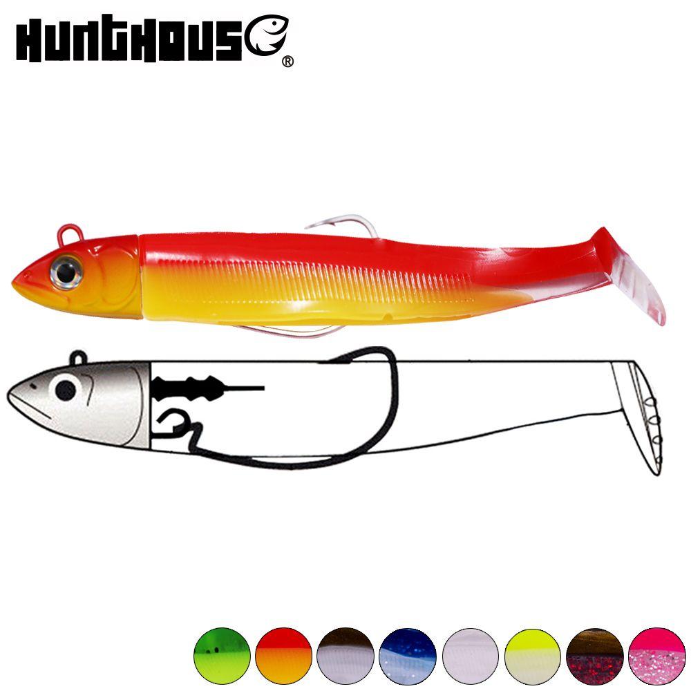 Hunthouse black minnow 100mm 25g fishing lure soft pike lure hengelsport roofvissen kunstaas bass fishing leurre souple shad