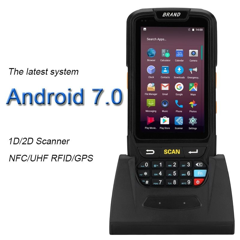 Industrial Rugged Handheld Data Collector Wireless 4G Mobile Data Terminal 1D 2D Laser Barcode Scanner Android 7.0 PDA Device