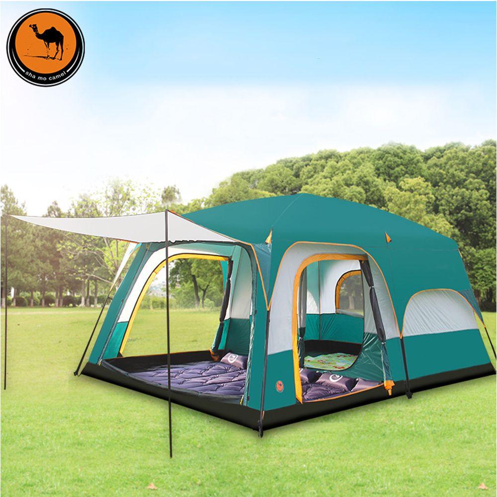 6 8 10 12 menschen doppel schicht im 2 wohnzimmer und 1 halle familie camping zelt in top qualität große raum zelt