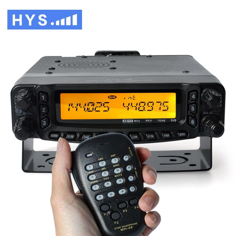 Free Shipping Powerful 27/50/144/430Mhz Quad Band VHF UHF Mobile CB Radio