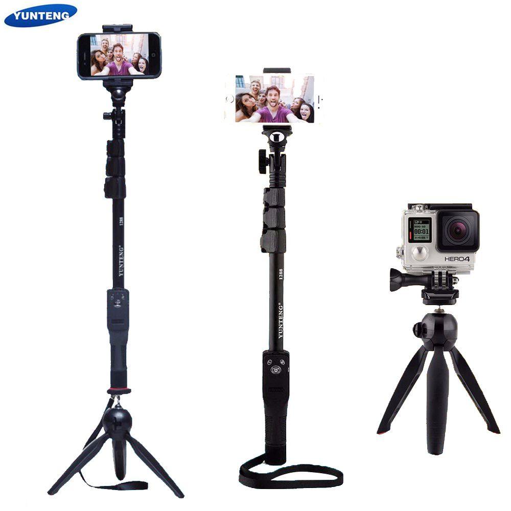 Camera Phone Bluetooth Extendable Selfie Stick Yunteng 1288 Telescopic Monopod Pole or 228 Mini Tripod For Iphone 5 6 7 Samsung