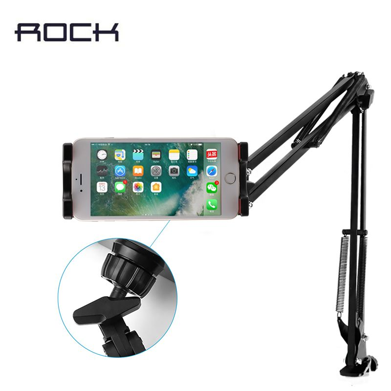 Neueste ROCK 360 grad universal-drehung flexible tablet halter für 4,0-12,9 zoll smartphones & tabletten fodable halter desktop