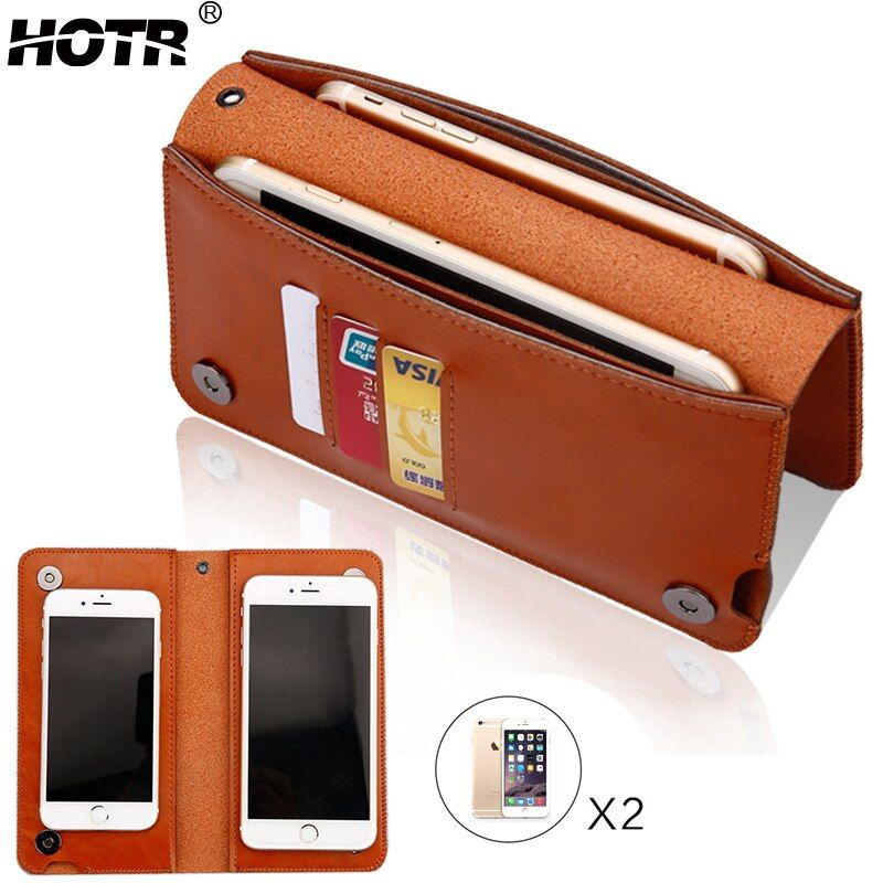 HOTR Luxury Universal PU Leather Wallet Pouch Case For iphone 6 Case For iphone 7 7 plus For Samsung S7edge Magnetic Flip Cover