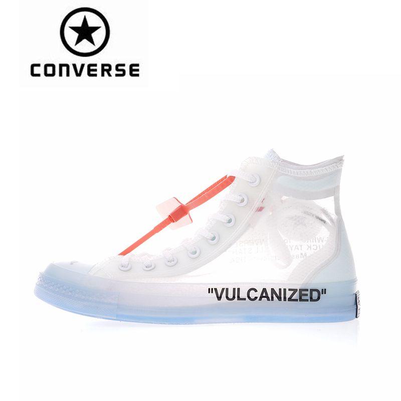 Converse High Top 1970 s OFFWHITE Klassische Skateboard Schuhe Unisex Leinwand Anti-Rutschig Sneakser
