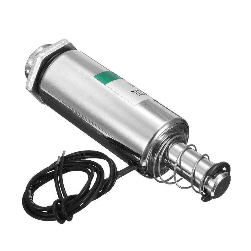 1 STÜCK Pull Type Solenoid-elektromagneten DC 12 V 16mm Rohr solenoids Mit Federrückstellung