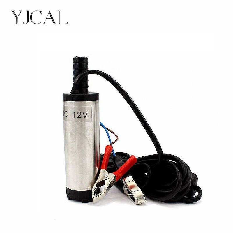 Submersible Diesel Fuel Water Oil Pump Diameter 38MM Stainless Steel DC 12V 24V 12L/Min 40W  Car Camping Portable With Switch