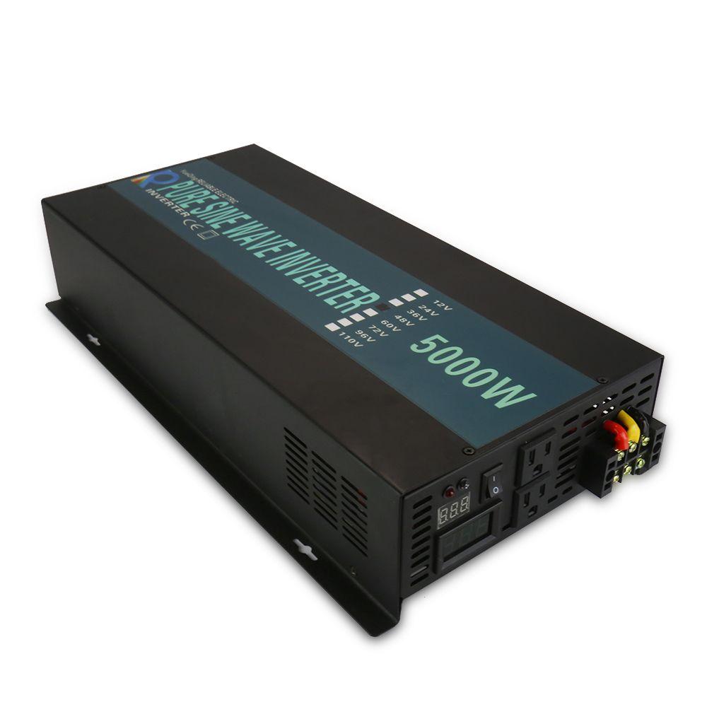 5000 watt Solar Power Inverter 24 v zu 220 v Reine Sinus-wechselrichter Hohe Spannung Konverter 12 v 36 v 48 v 110 v DC zu 120 v 230 v 240 v AC