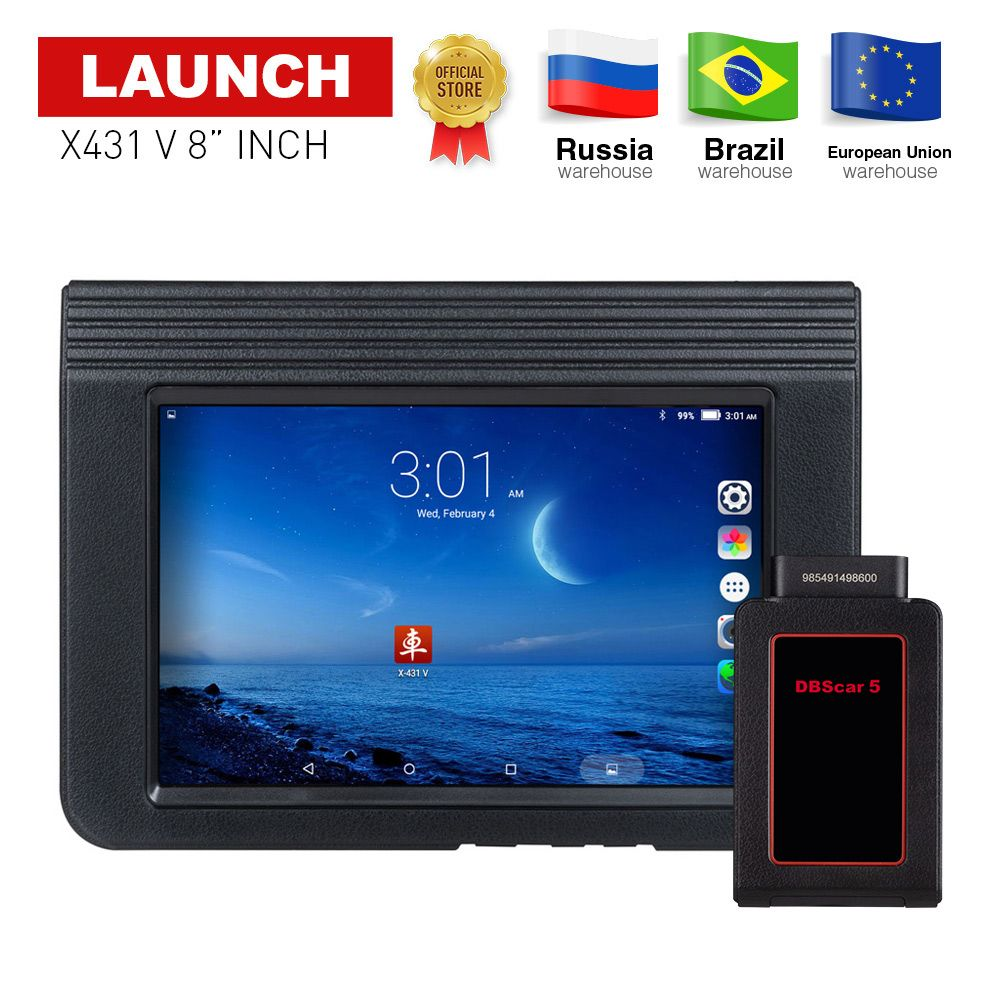 LAUNCH X431 V 8 Global version Full System Auto Diagnostic Tool X-431 V Bluetooth/Wifi obd2 car Scanner with 2 years free update