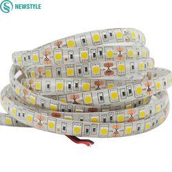 5 м DC12V Водонепроницаемый Светодиодные ленты 5050 SMD 60LED/м гибкий свет белый, теплый белый, красный, зеленый, синий, rgb Клейкие ленты