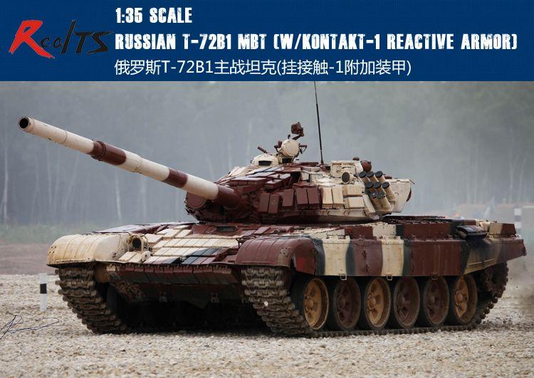 Trompetista 09555 1/35 Ruso T-72B RealTS/T-72B1 MBT (w/kontakt-1 blindaje reactivo)