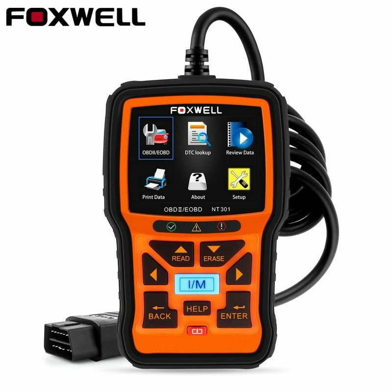 Foxwell NT301 OBD OBD2 Engine Universal Car Code Reader Diagnostic Tool Multi-languages OBD 2 Scan Tool odb 2 Automotive Scanner