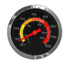 Stainless Steel BBQ Grill Perokok Thermometer Suhu Gauge 50-800 Derajat Fahrenheit 10-400 Derajat Celcius