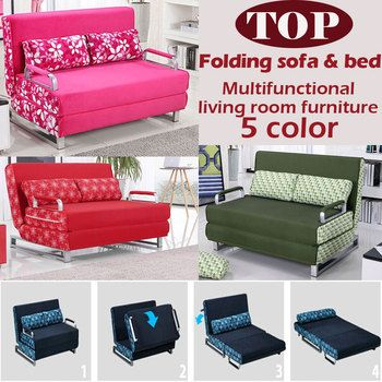 100% cotton sofa bed high resilience foam sponge sofa folding sofa set multifunction living room  metal sofa bed 1.5*1.9,6 color