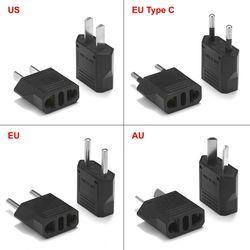 2 pcs Européenne UE Plug Adaptateur Japon Chine Américain US À L'UE Type C Australien AC Power Voyage Adaptateurs Électriques chargeur Prise