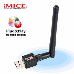 Mini USB Wifi Adapter 150 Mbps 2dB WiFi Dongle MT7601 Wi-fi Empfänger Drahtlose Netzwerk Karte 802.11b/n/g antenne wi fi Ethernet