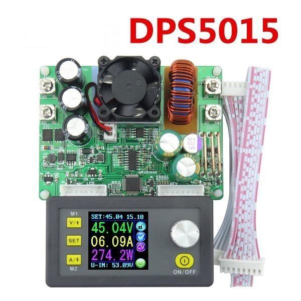 DP50V15A DPS5015 Programable Módulo de Fuente de Alimentación Integrada Con Voltímetro Amperímetro Pantalla a Color