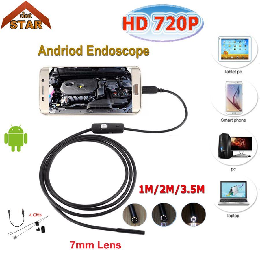 Stardot 7mm 1 M 2 M 3.5 M 5 m USB Android Endoscope Caméra D'inspection Téléphone Caméra IP67 USB Endoscoop Caméra Endoscope Endoscopio