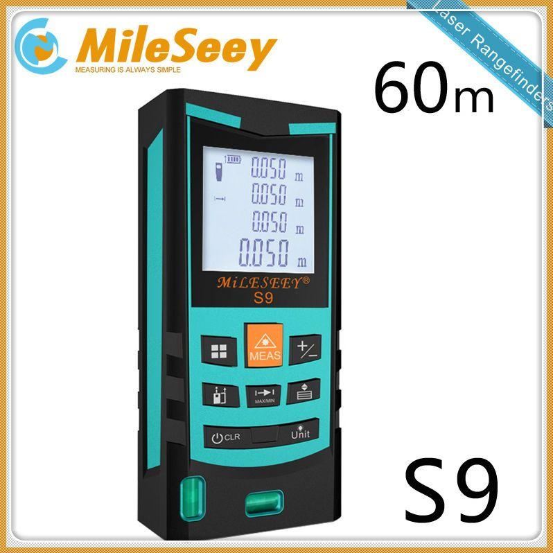 Numérique Laser Mètre de Distance Mileseey S9 60 m Laser Gamme de Télémètre Laser Mesure Bleu