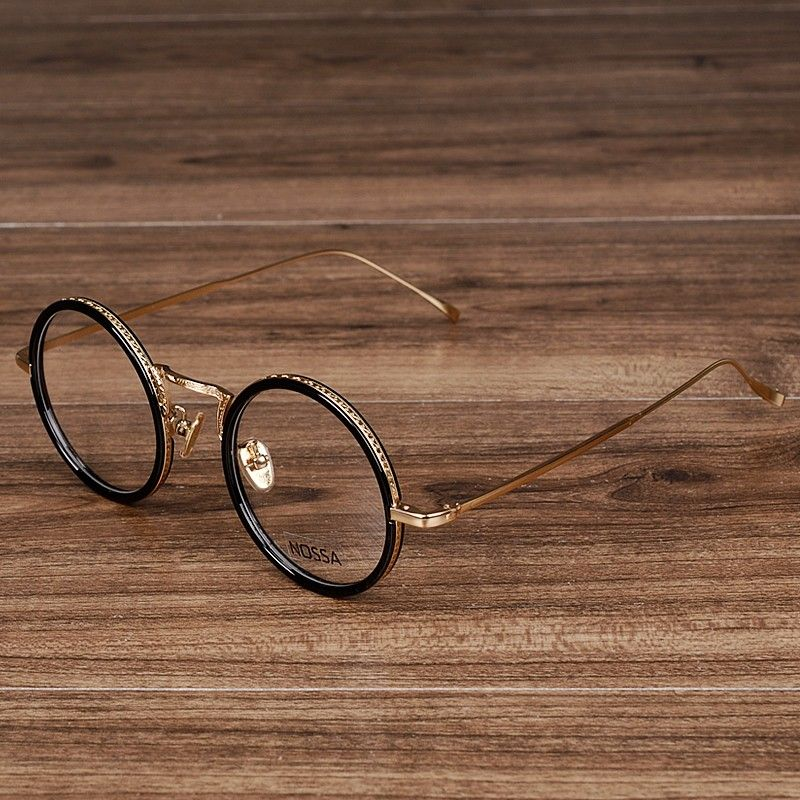 NOSSA Mode Femmes & Hommes de Lunettes Rondes Femelle Élégant Transparent Lunettes Vintage Rose Or Optique Lunettes Montures de lunettes
